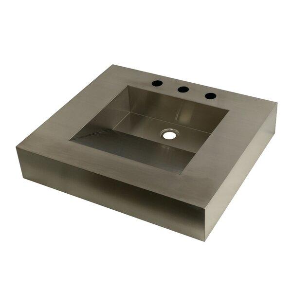 Stainless Steel Square Drop-In Bathroom Sink by Kingston Brass