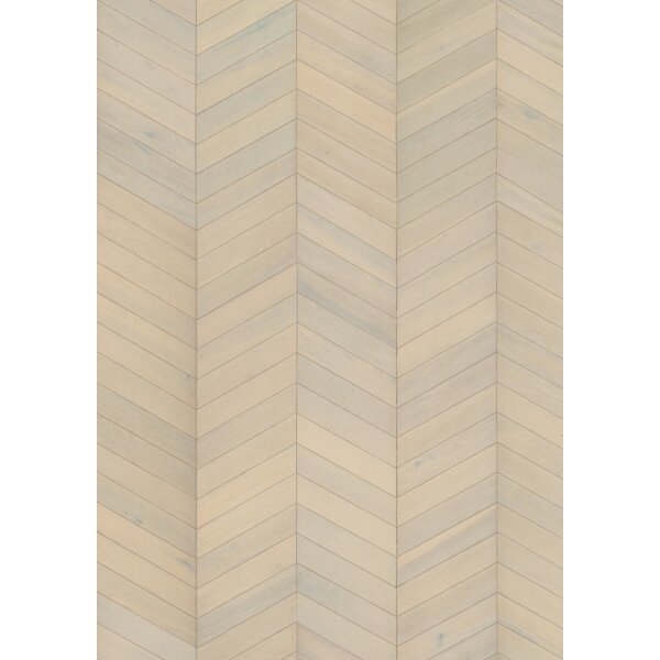 Chevron 12 Engineered Oak Hardwood Flooring in White by Kahrs