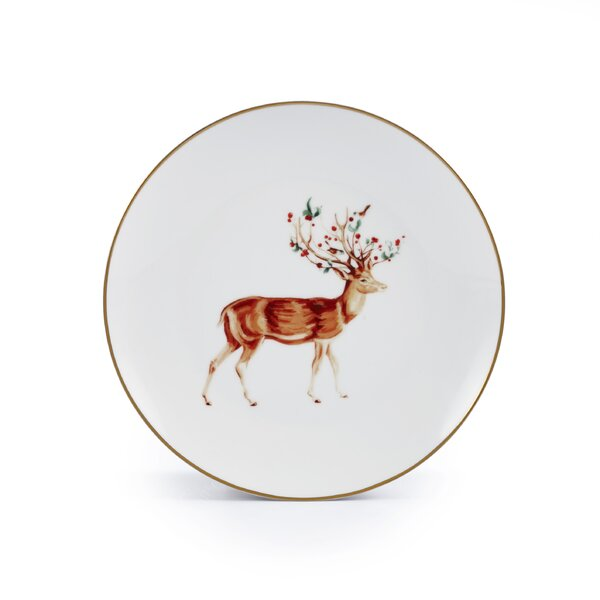 Rudolph Xmas 8.1 Dessert Plate (Set of 4) by The Holiday Aisle