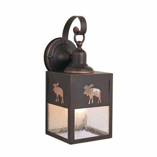 Josefina 1-Light Beveled Glass Shaded Outdoor Wall Lantern by Loon Peak