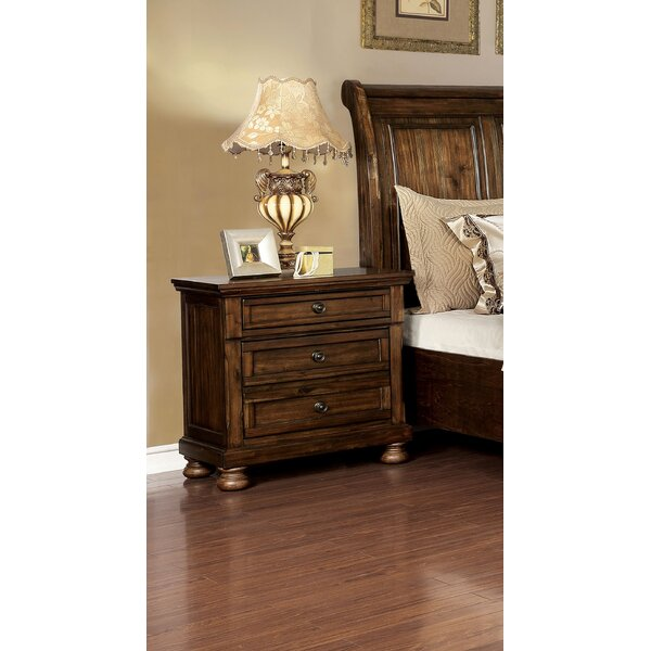 Bette 3 Drawer Nightstand by Millwood Pines