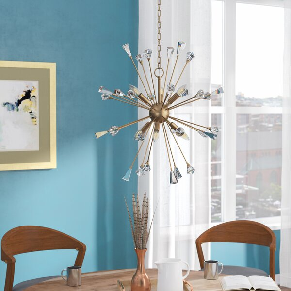 Sorenson 6 - Light Sputnik Sphere Chandelier With Crystal Accents By Wrought Studio