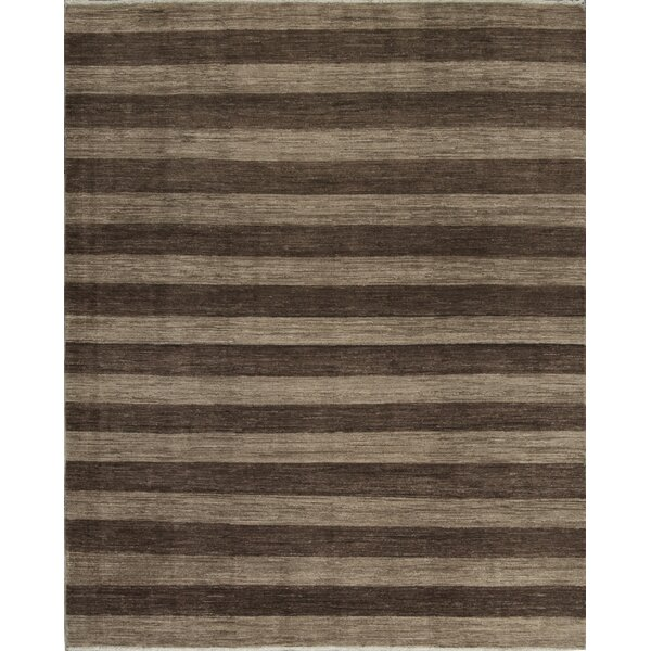 Gabbeh One-of-a-Kind Hand-Knotted Wool Taupe Area Rug by Bokara Rug Co., Inc.