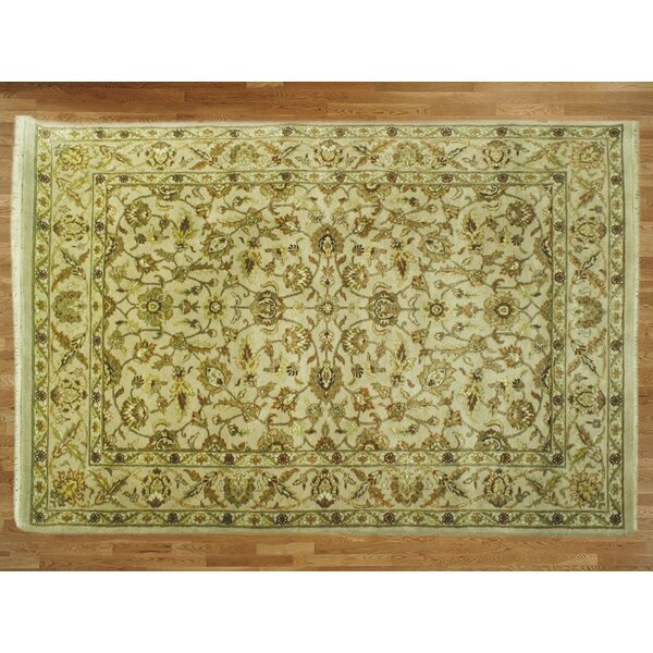 One-of-a-Kind Railey Hand-Knotted Wool Beige Area Rug by Astoria Grand