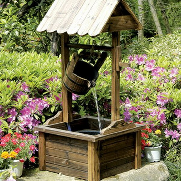 Superieur PierSurplus Wood Wishing Well Outdoor Patio Water Fountain U0026 Reviews |  Wayfair