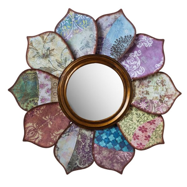 Floral Pattern on Pattern Wall Mirror by Cape Craftsmen