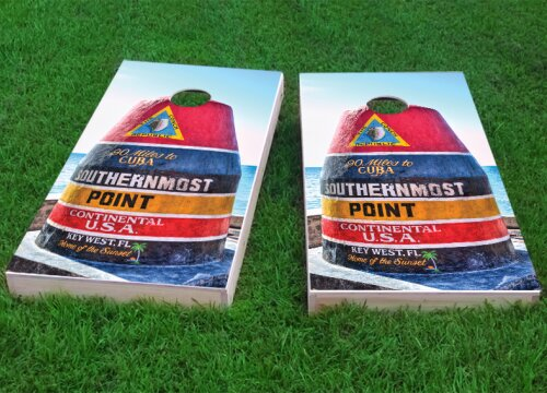 Southernmost Point Cornhole Game (Set of 2) by Custom Cornhole Boards