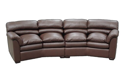 Canyon Leather Conversation Sofa by Omnia Leather