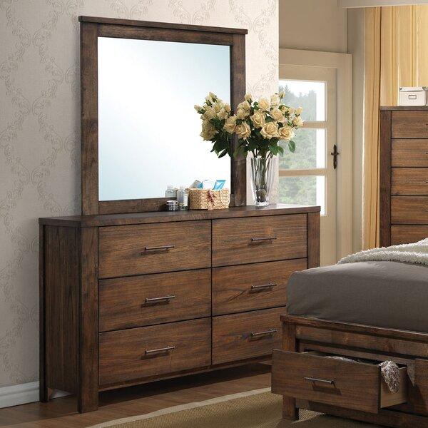 Schlesinger 6 Drawer Double Dresser with Mirror by Latitude Run