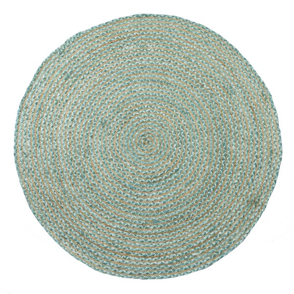 Valencia Braided Hand Woven Teal Area Rug by Home Furnishings by Larry Traverso