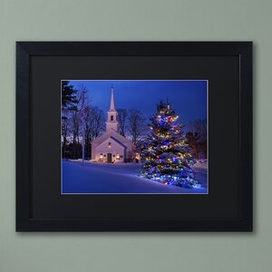 'New England Xmas' by Michael Blanchette Framed Photographic Print by Trademark Fine Art