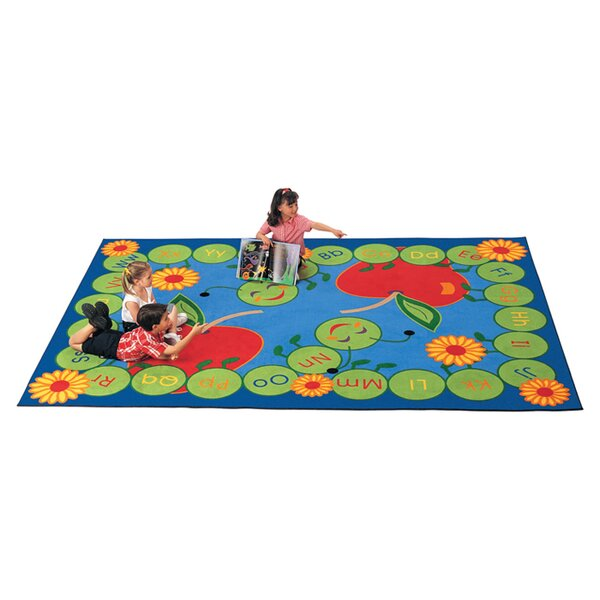 Literacy ABC Caterpillar Kids Area Rug by Carpets for Kids