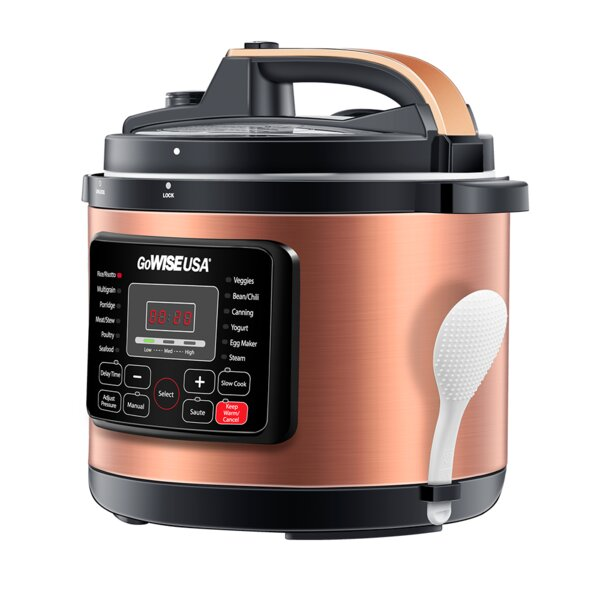 6 Qt. Electric Pressure Cooker by GoWISE USA