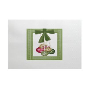 Read Reviews Frame It Up Green/Off White Indoor/Outdoor Area Rug By The Holiday Aisle