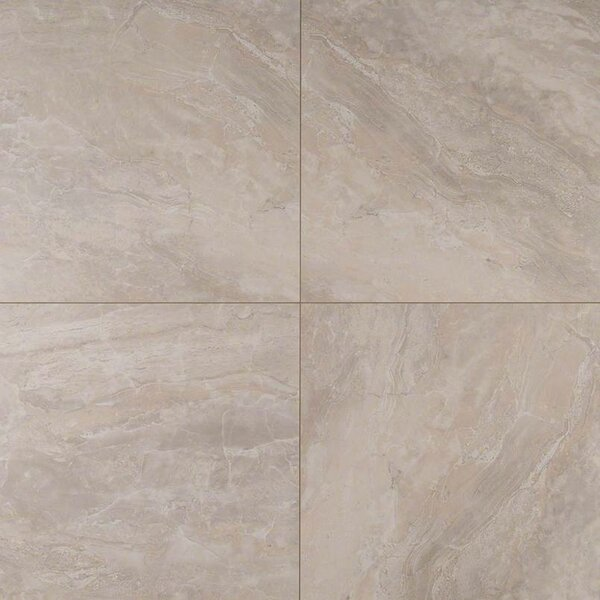 Onyx Grigio 12 x 12 Porcelain Field Tile in Gray by MSI
