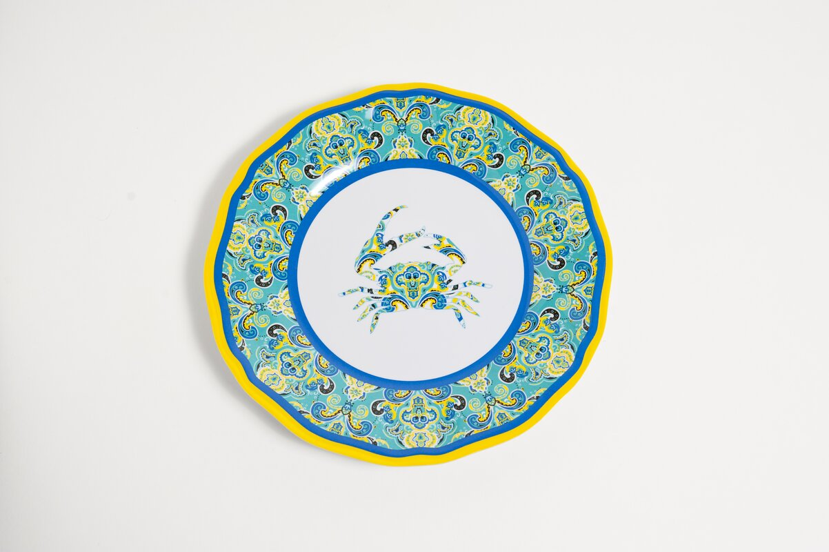 Yacht and Home 11  Melamine Paisley Crab Dinner Plate  sc 1 st  Wayfair & Galleyware Company Yacht and Home 11