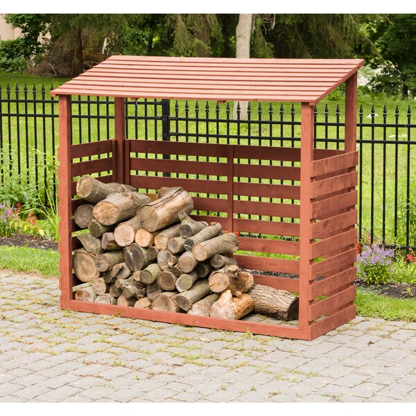 6 Ft. W X 2.5 Ft. D Wood Log Store By Leisure Season