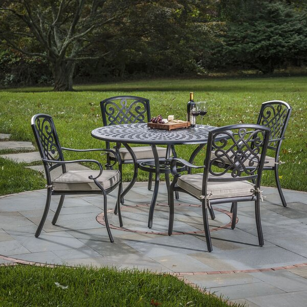 Lococo 5 Piece Dining Set with Cushion by Darby Home Co