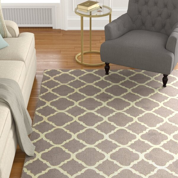 Fullerton Brown/Ivory Geometric Area Rug by Alcott Hill
