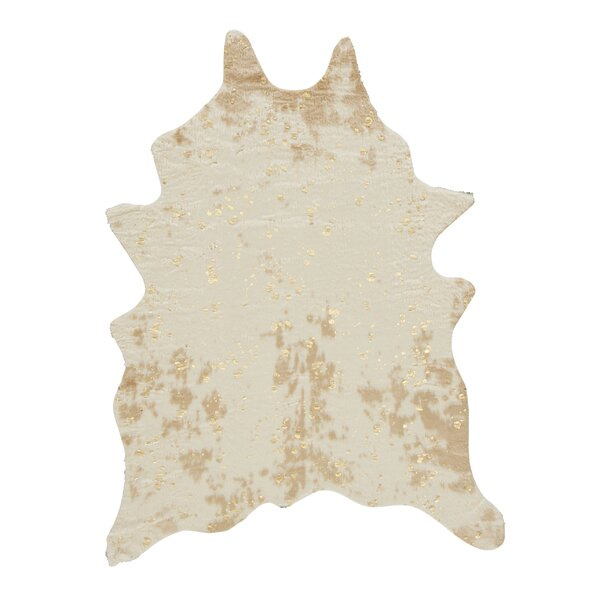 Pilla Ivory/Brown Area Rug by Union Rustic