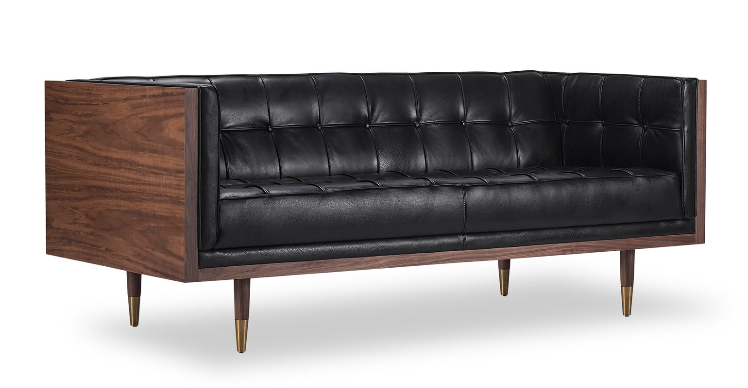 Arista Leather Chesterfield Loveseat Amp Reviews Allmodern
