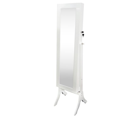 Atrakchi Free Standing Jewelry Armoire with Mirror by Winston Porter