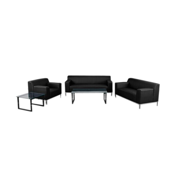 Maven Reception 3 Piece Leather Living Room Set by Latitude Run