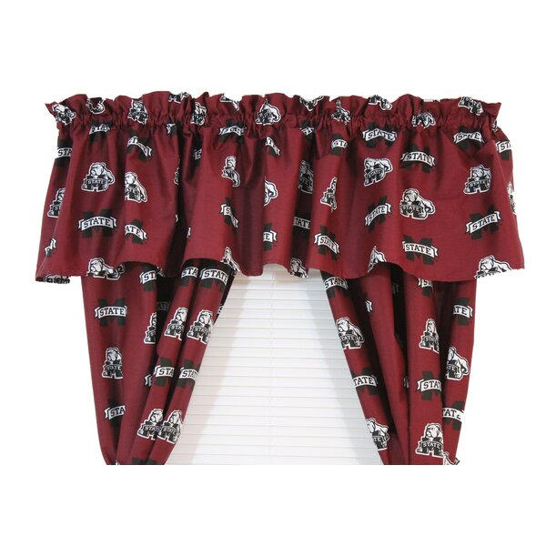 NCAA Mississippi State 84 Curtain Valance by College Covers