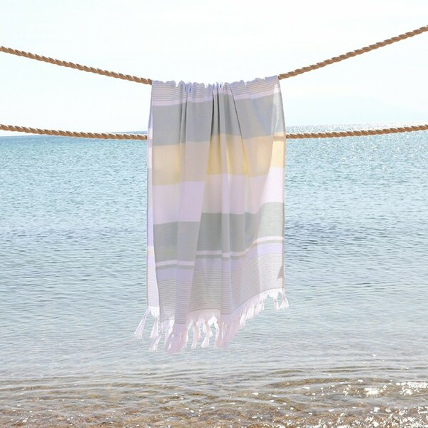 Summer Loving Personalized Pestemal Turkish Cotton Beach Towel by Linum Home Textiles