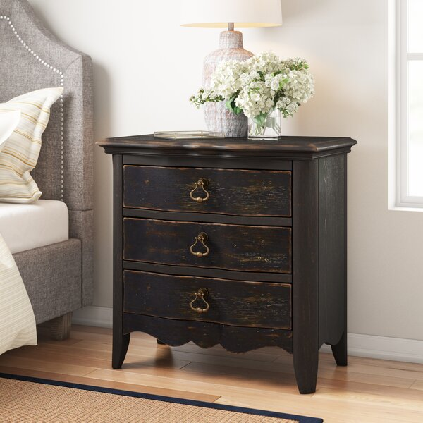 Bartow 3 Drawer Nightstand By Three Posts by Three Posts New