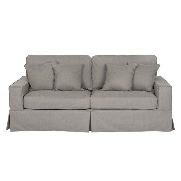 Review Elsberry Box Cushion Sofa Slipcover