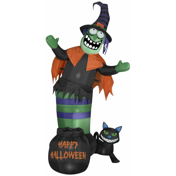 Animated Wobbling Witch Scene Inflatable by The Holiday Aisle