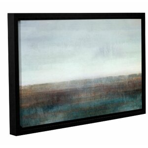 'Landscape Ground Fog' Framed Painting Print by Zipcode Design