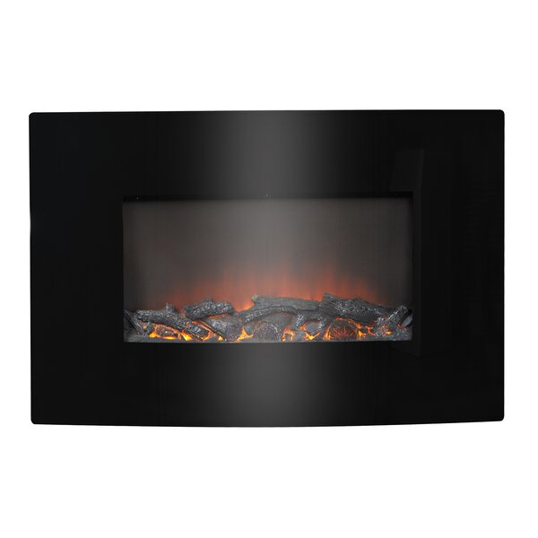 Flamelux 35 Wide Wall Mounted Electric Fireplace by Homestar