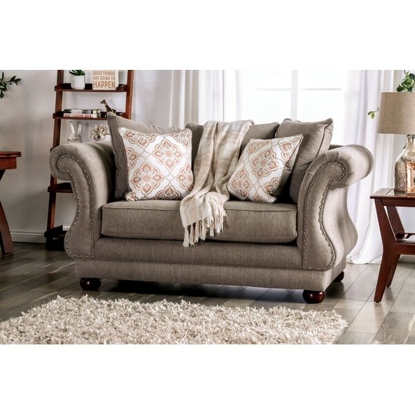 Review Roseberry Flared Arms Loveseat