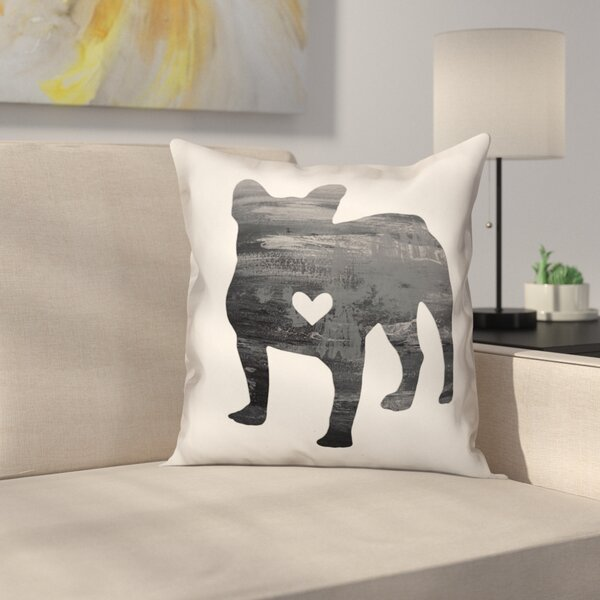 Nunlist Silhouette Frenchie Throw Pillow in , Throw Pillow by East Urban Home