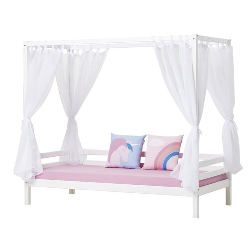Basic Four Poster Bed Hoppekids Size: 70 x 190cm
