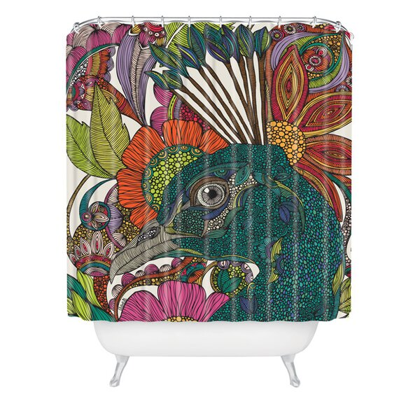 Deepak Alexis And The Flowers Extra Long Shower Curtain by Bungalow Rose