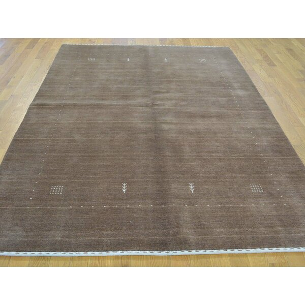 One-of-a-Kind Becker Buft Hand-Knotted Brown Wool Area Rug by Isabelline