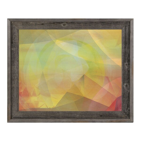 Fading Petals in Citrine Framed Graphic Art on Canvas by Click Wall Art
