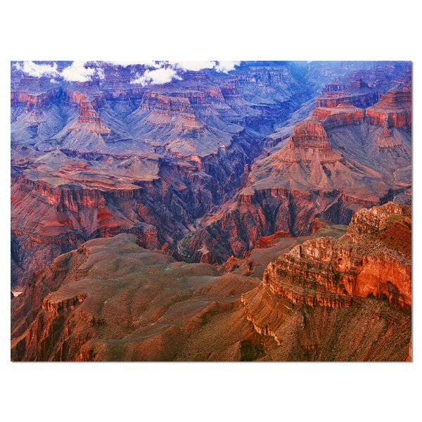 Blue and Red Grand Canyon View Photographic Print on Wrapped Canvas by Design Art