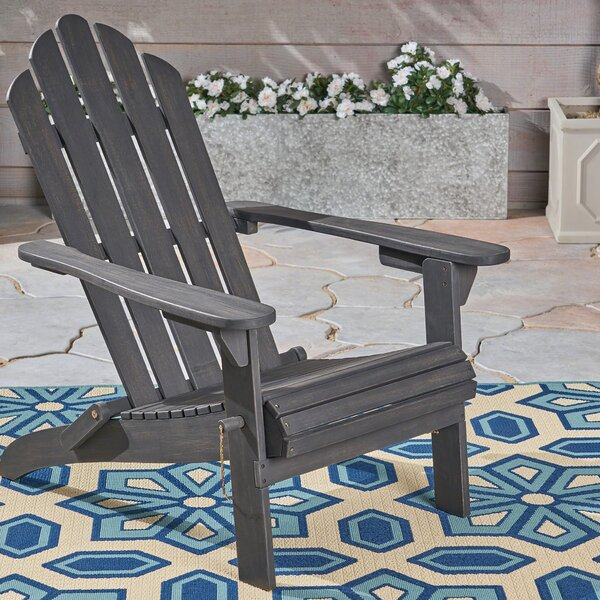 Larracey Solid Wood Folding Adirondack Chair by Gracie Oaks Gracie Oaks