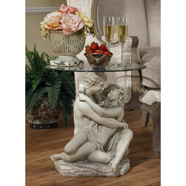 Free S&H In The Arms Of Romance End Table