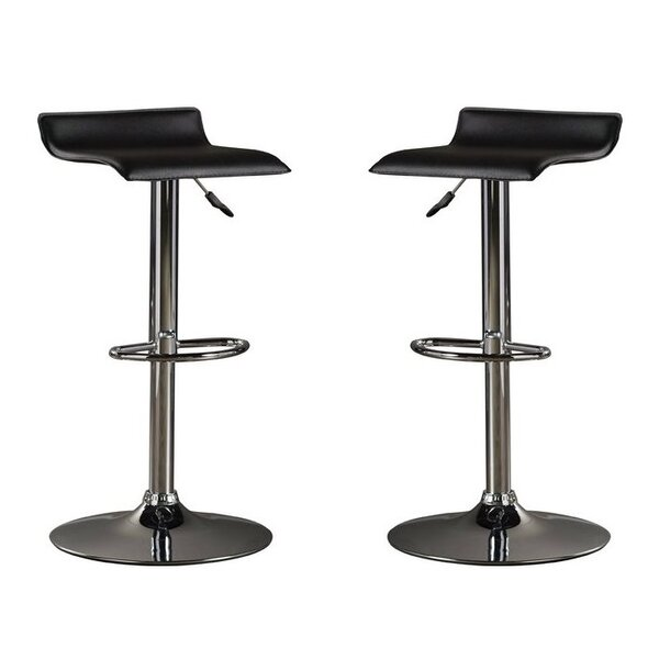 Park Avenue Adjustable Height Bar Stool (Set of 2) by Orren Ellis
