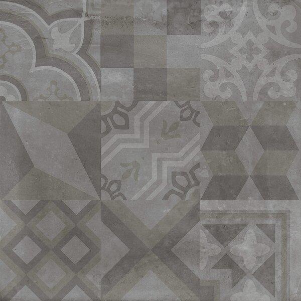 Alive 24 x 24 Porcelain Tile in Dark Deco by Madrid Ceramics