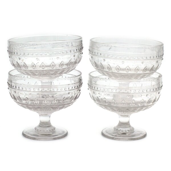 McKenney 13 oz. Footed Compote (Set of 4) by Bungalow Rose