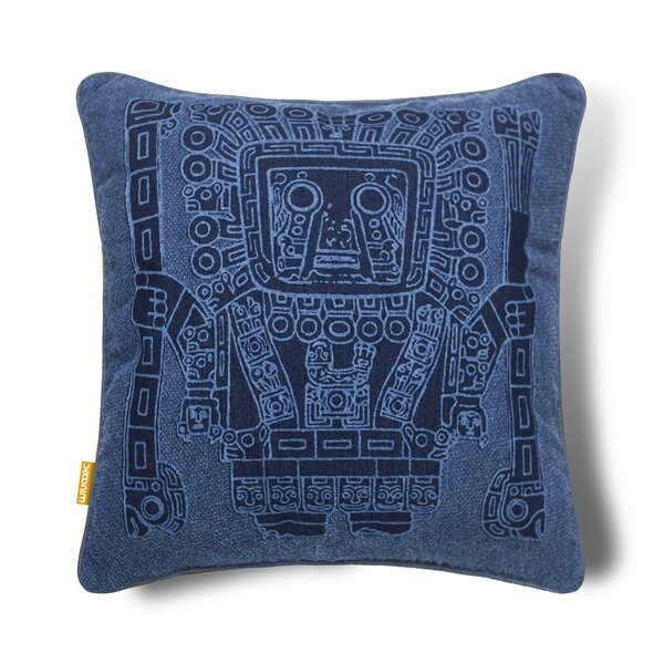 Sipan God Indoor/Outdoor Cotton Pillow Cover