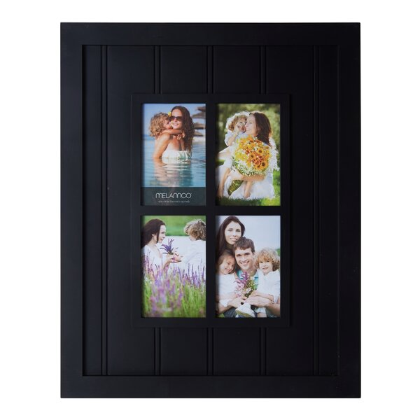 4-Opening Slat Window Plastic Collage Picture Frame by Melannco
