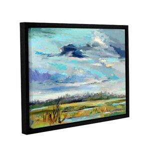 Marsh Skies Framed Painting by Latitude Run