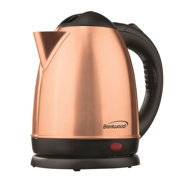 Cordless Stainless Steel Electric Tea Kettle by Brentwood Appliances